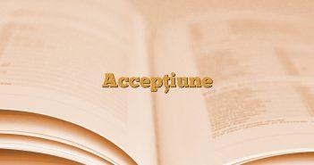 Accepțiune