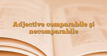Adjective comparabile şi necomparabile