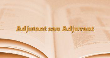 Adjutant sau Adjuvant