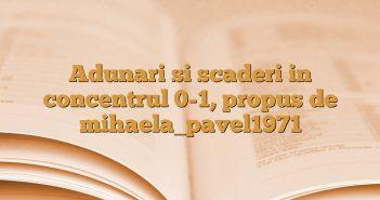 Adunari si scaderi in concentrul 0-1, propus de mihaela_pavel1971