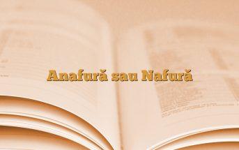 Anafură sau Nafură