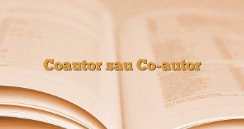 Coautor sau Co-autor