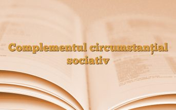 Complementul circumstanțial sociativ