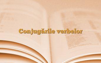 Conjugările verbelor