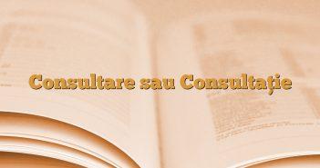 Consultare sau Consultaţie