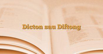 Dicton sau Diftong