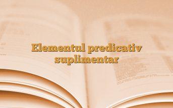 Elementul predicativ suplimentar