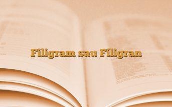 Filigram sau Filigran