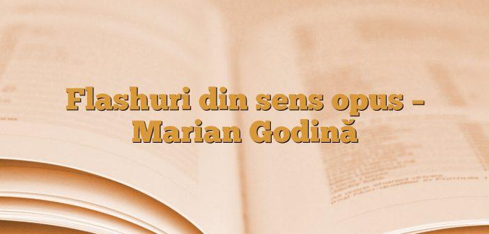 Flashuri din sens opus – Marian Godină