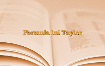 Formula lui Taylor