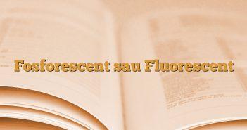 Fosforescent sau Fluorescent