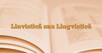 Linvistică sau Lingvistică