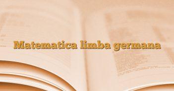Matematica limba germana