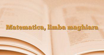 Matematica, limba maghiara