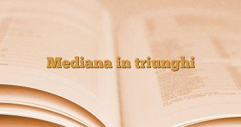 Mediana in triunghi