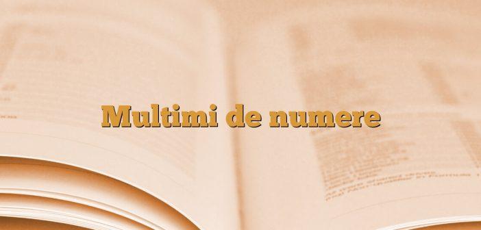 Multimi de numere