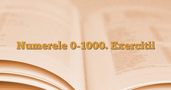 Numerele 0-1000. Exercitii