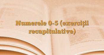 Numerele 0-5 (exerciţii recapitulative)
