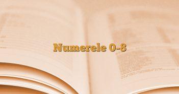 Numerele 0-8