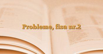 Probleme, fisa nr.2