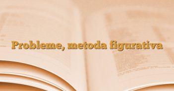 Probleme, metoda figurativa