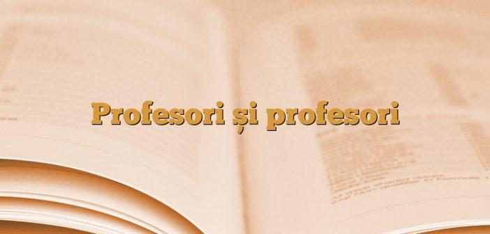 Profesori și profesori