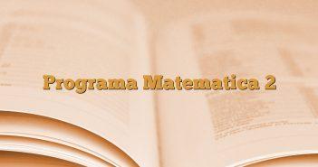 Programa Matematica 2