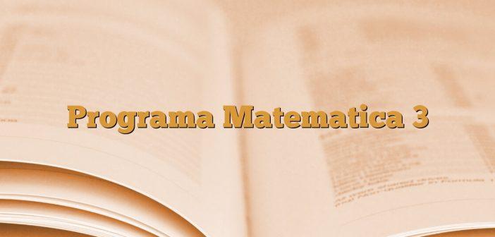 Programa Matematica 3
