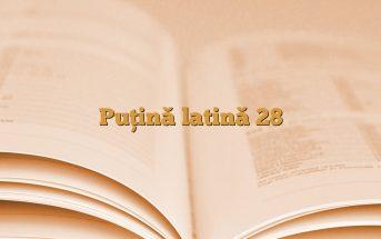 Puţină latină 28