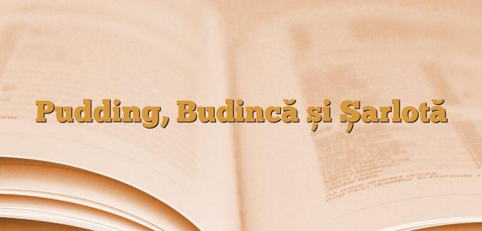 Pudding, Budincă și Șarlotă