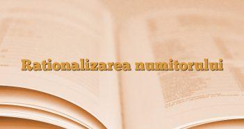 Rationalizarea numitorului