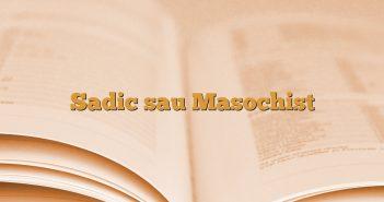 Sadic sau Masochist