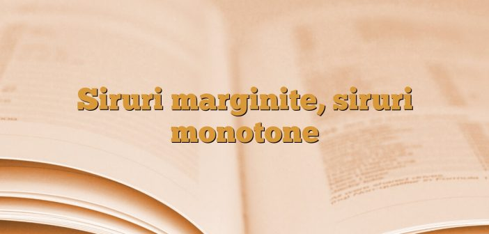 Siruri marginite, siruri monotone