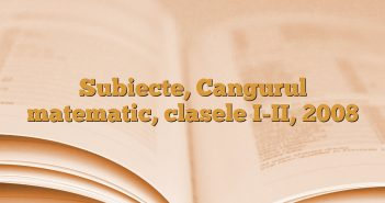 Subiecte, Cangurul matematic, clasele I-II, 2008