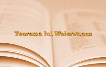 Teorema lui Weierstrass