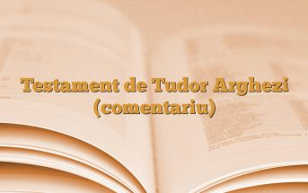 Testament de Tudor Arghezi (comentariu)
