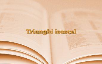 Triunghi isoscel
