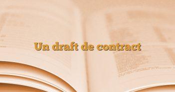 Un draft de contract