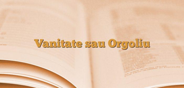 Vanitate sau Orgoliu
